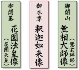 三尊佛様の配置